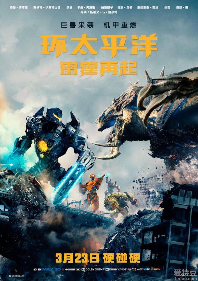 电影《环太平洋:雷霆再起》定档3月23日