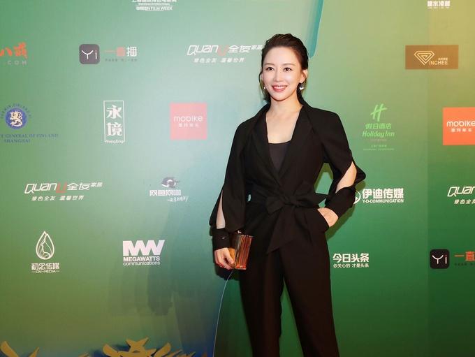 潘晓婷亮相上海国际绿色电影周担任颁奖嘉宾