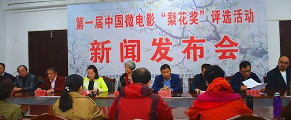 """微电影""""梨花奖""""评选活动发布会在安徽省举行"""