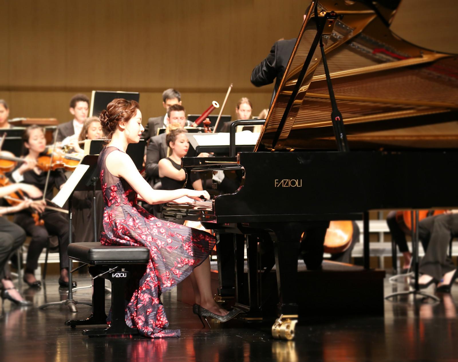 钢琴女神印芝音乐会巡演接近尾声