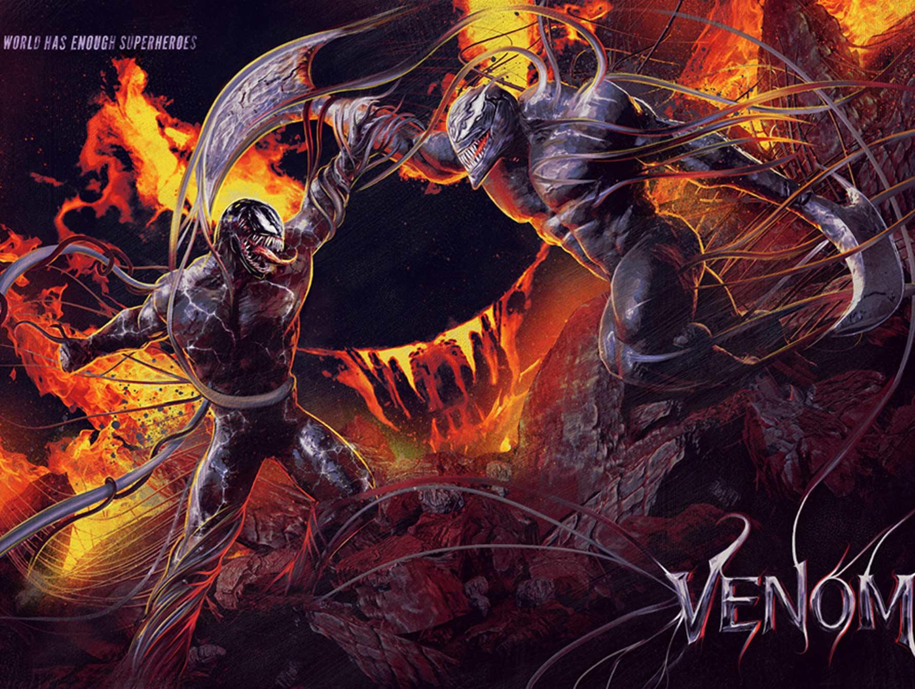 数百国外大神为《毒液:致命守护者》创作艺术海报
