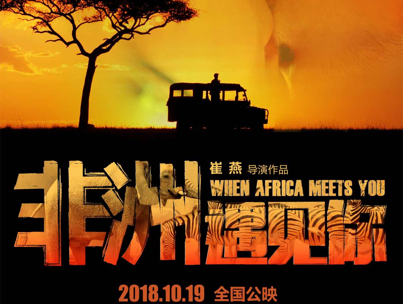 《非洲遇见你》曝终极海报 非洲传奇冒险之旅引猜想