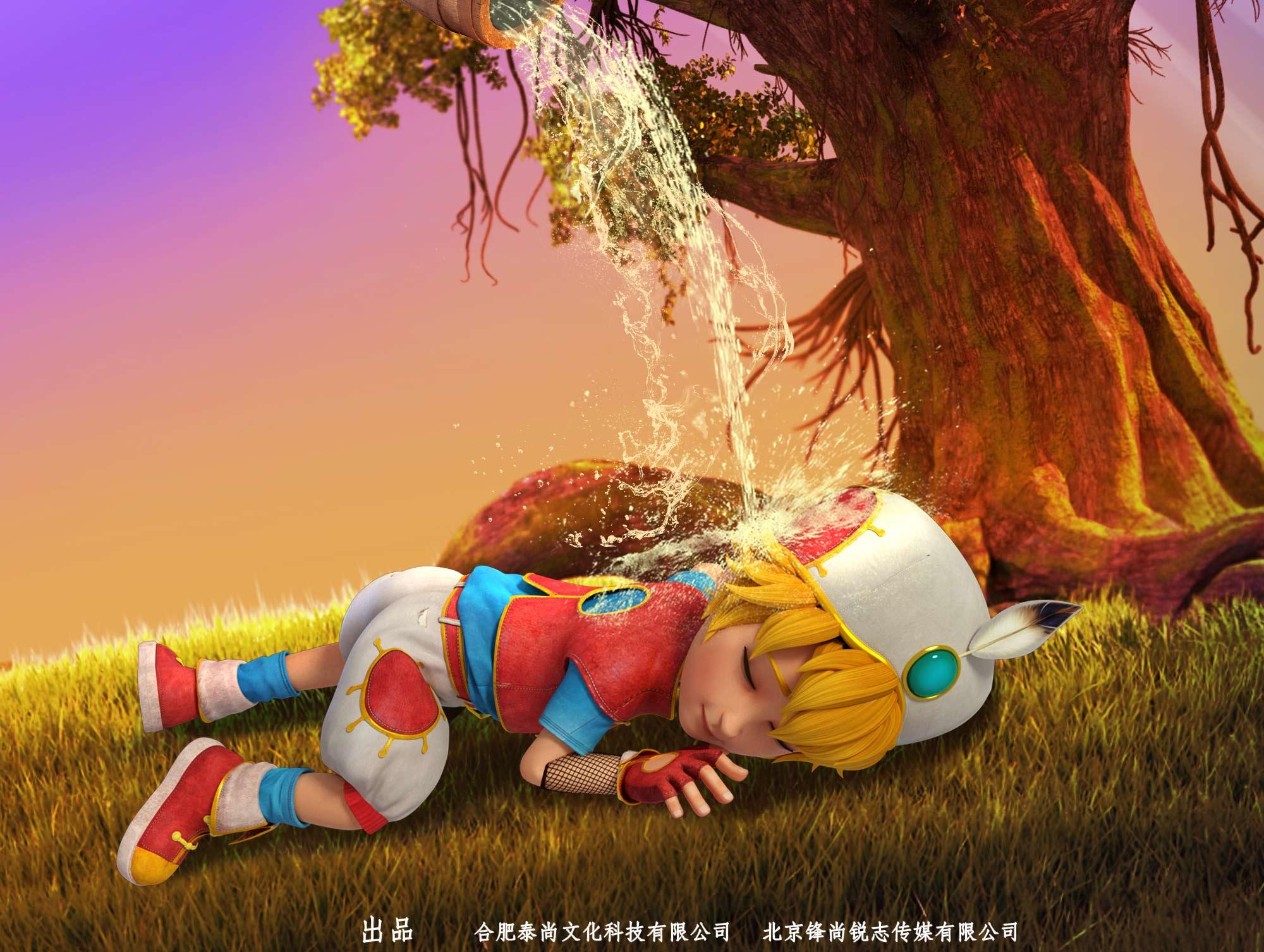 动画电影《阿里巴巴三根金发》发布淘气包版海报