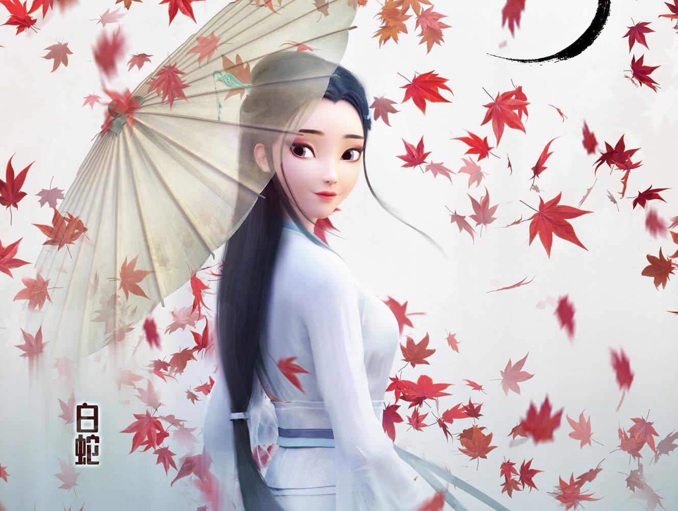 """《白蛇:缘起》票房破亿 发""""小清新""""角色海报"""
