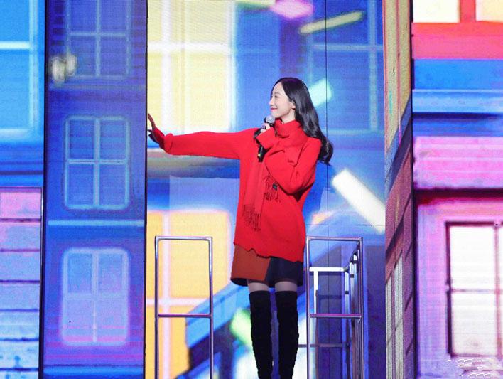 韩雪央视网络春晚《天冷就回来》温情满满