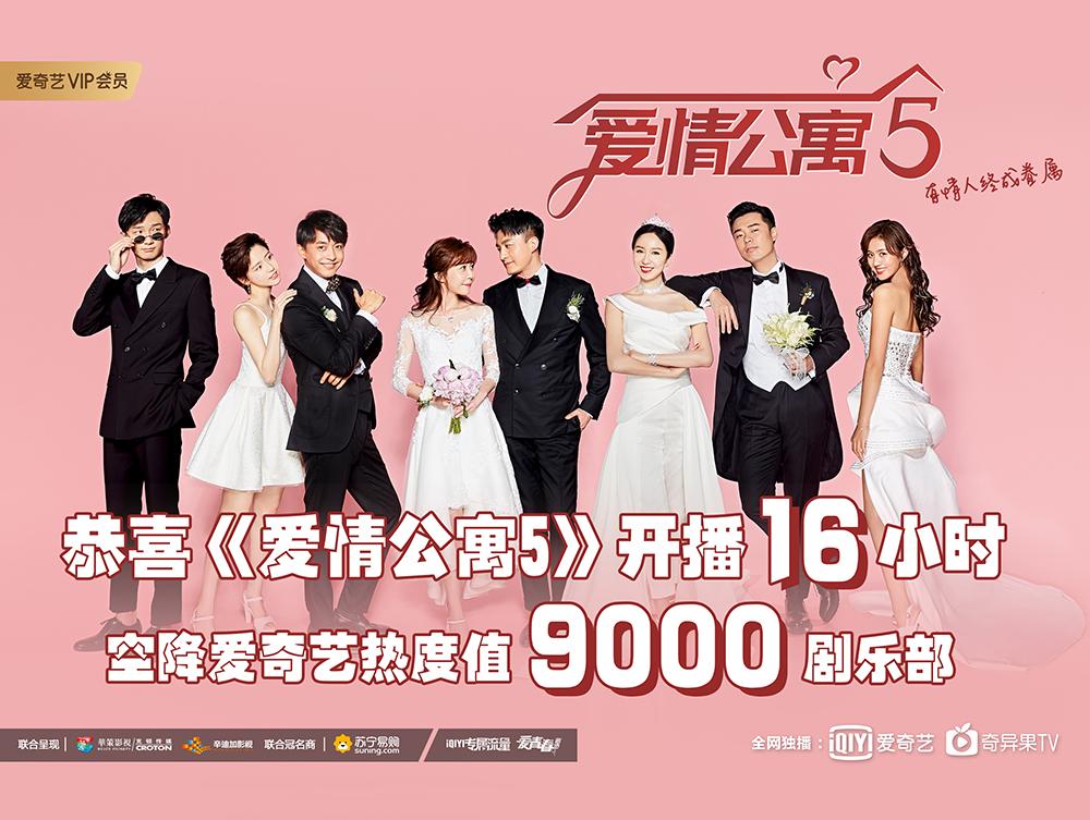 《爱情公寓5》首播告捷 上线一天吸引2800万会员