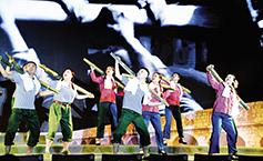 纪念建党99周年大型舞台剧《致敬英雄》首演
