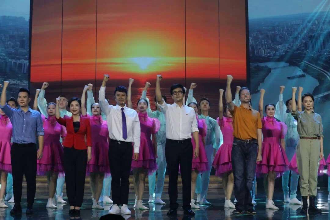 印小天音诗画朗诵《贡献自贸港》庆祝建党99周年晚会播出